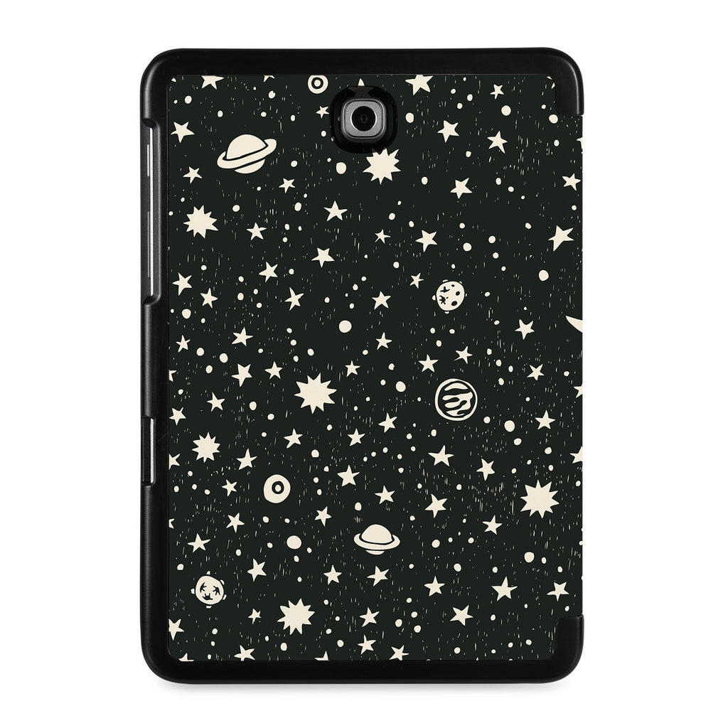 the back view of Personalized Samsung Galaxy Tab Case with Space design