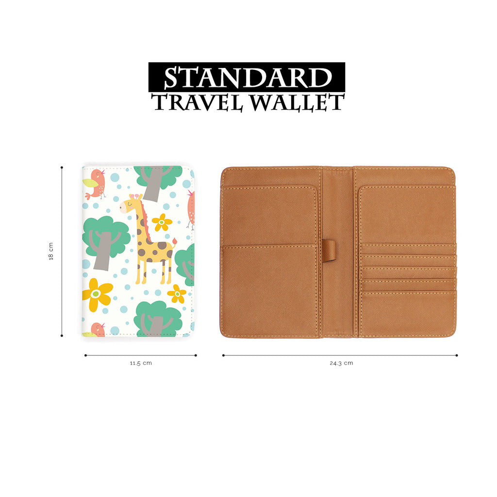 standard size of personalized RFID blocking passport travel wallet with Animals Collection design