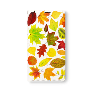 Front Side of Personalized Samsung Galaxy Wallet Case with FlatLeaves design