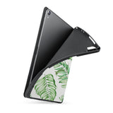soft tpu back case with personalized iPad case with Leaves design