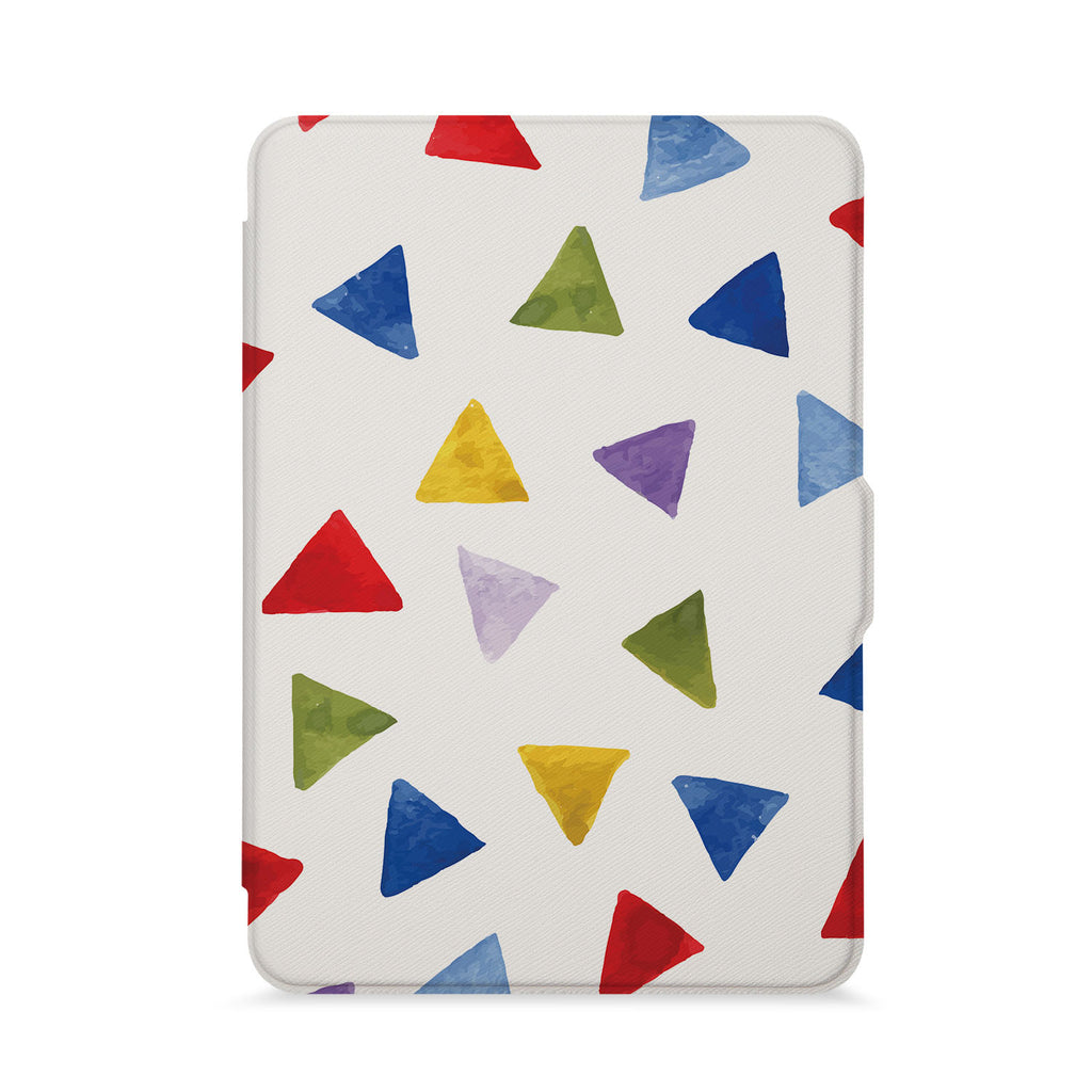 front view of personalized kindle paperwhite case with Geometry Pattern design - swap