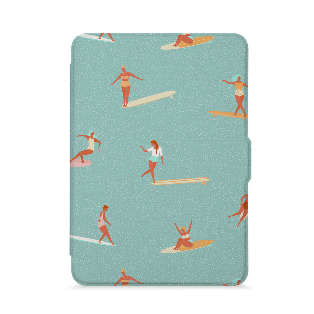 front view of personalized kindle paperwhite case with Summer design - swap
