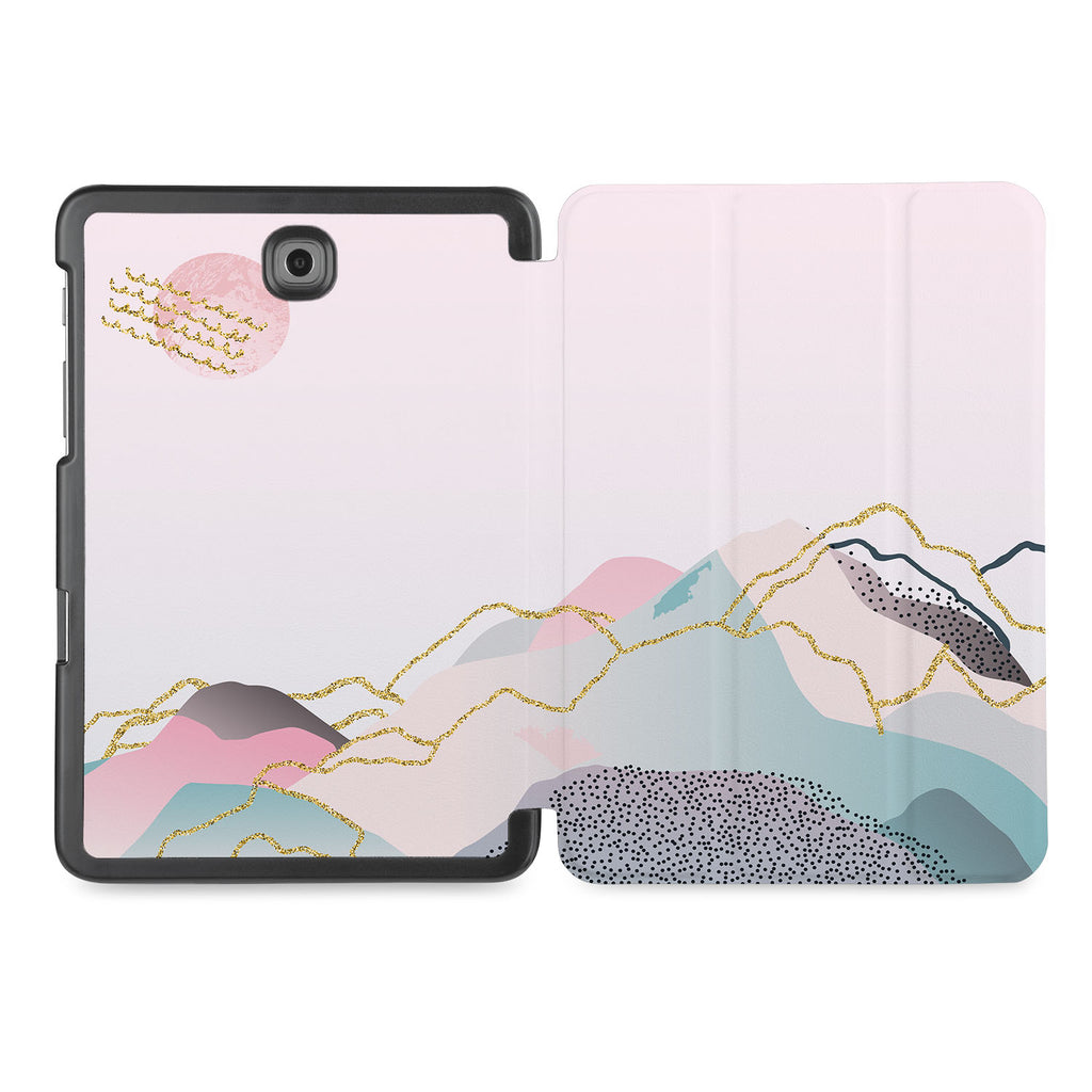the whole printed area of Personalized Samsung Galaxy Tab Case with Marble Art design