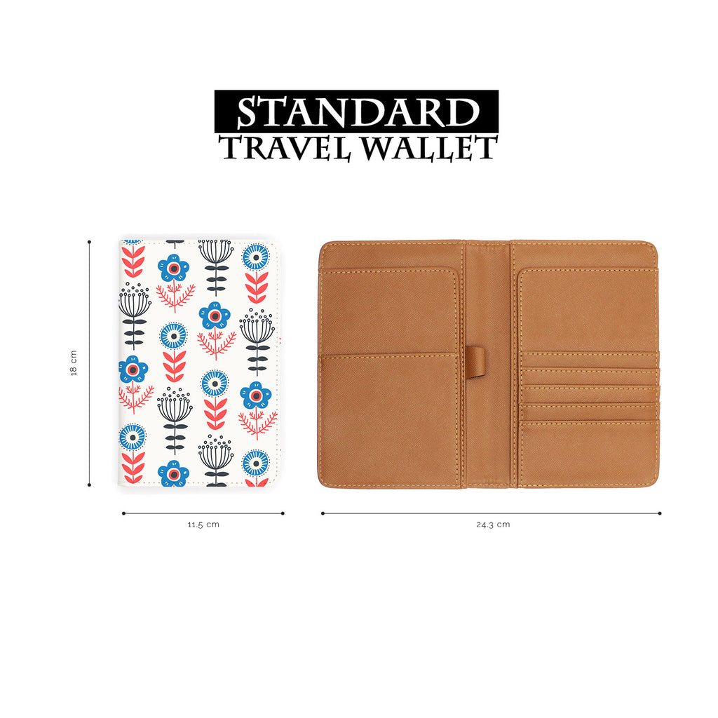standard size of personalized RFID blocking passport travel wallet with North Dream design