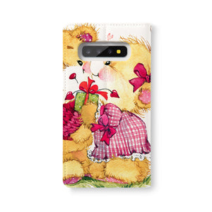 Back Side of Personalized Samsung Galaxy Wallet Case with CuteBear design - swap