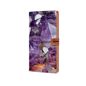 Traveler's Notebook - Crystal Diamond-the side view of midori style traveler's notebook - swap