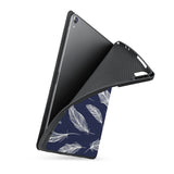 soft tpu back case with personalized iPad case with Feather design