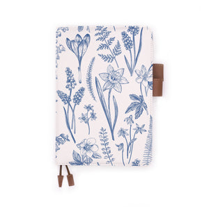 the front view of papermarker's diary with Flower pattern