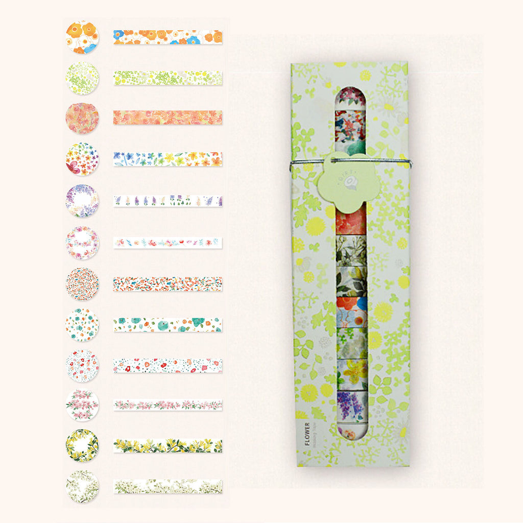 Washi Tape Gift Pack - Flower Green