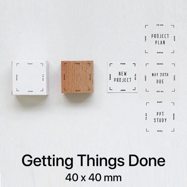 Wooden Rubber Stamp - Getting Things Done