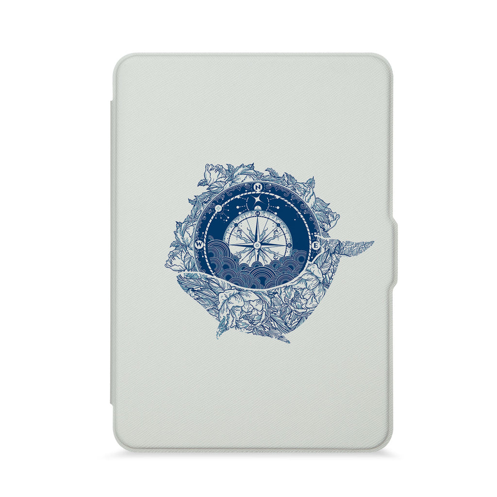 front view of personalized kindle paperwhite case with 04 design - swap