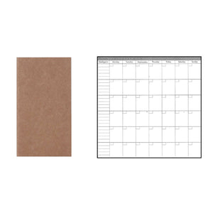 Traveler's Notebook Refill - Monthly Planner