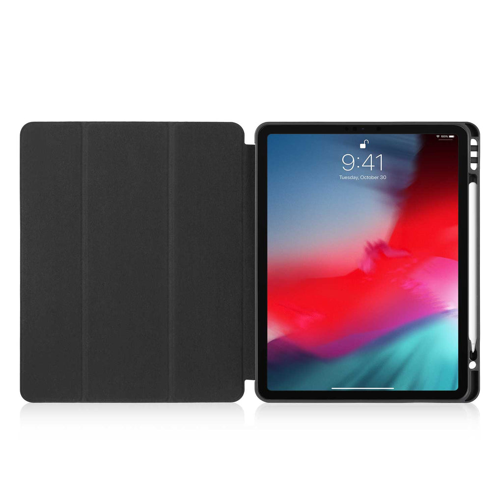 iPad Case with Pencil Holder - Black And White