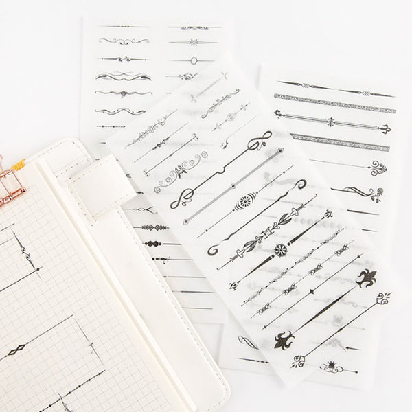 Washi Sticker - Dividing Line (6 Pieces)