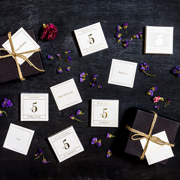 Set of Gold Foil Gift Cards
