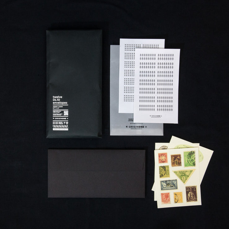 Set of 12 Black Envelopes