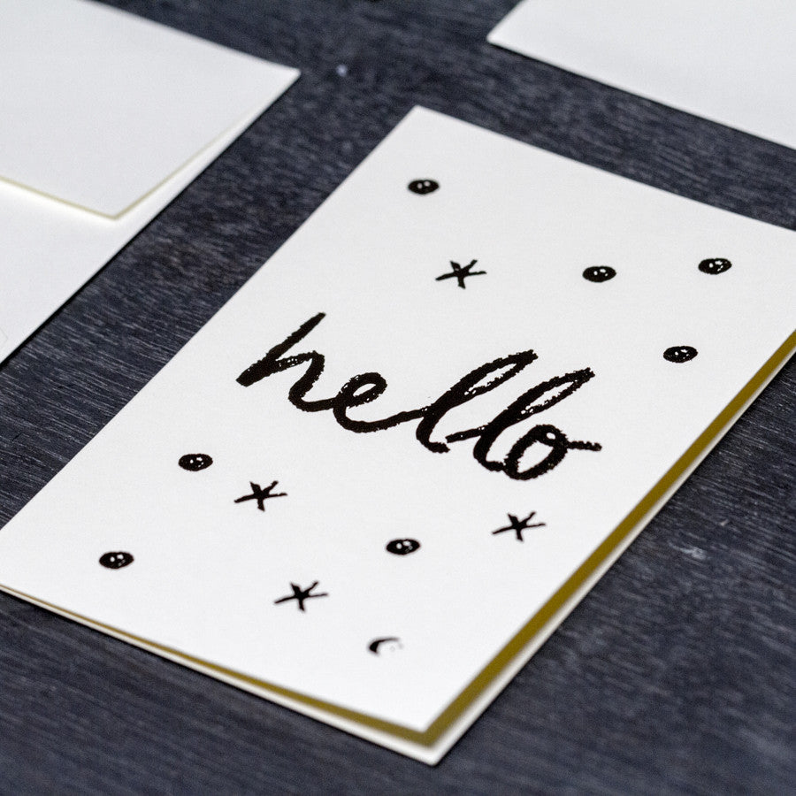 'Hello' Greeting Card