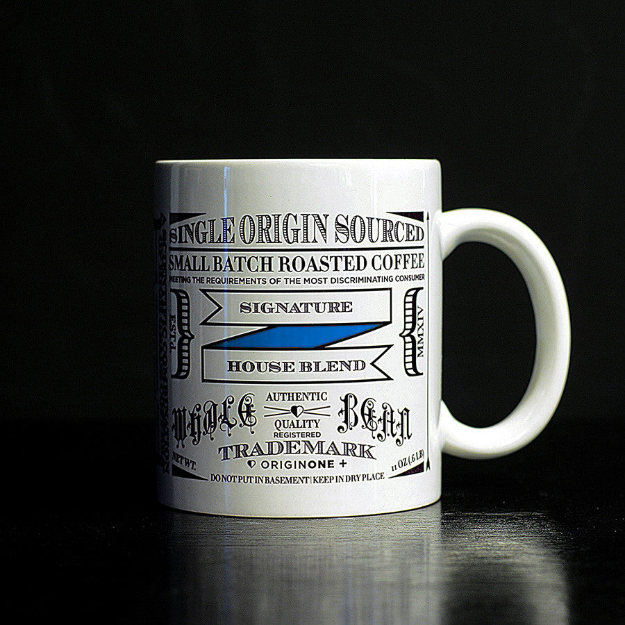 Vintage Typography Tea & Coffee Mugs