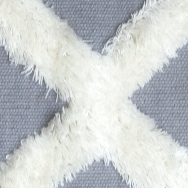 The XO Cement Grey Bedside Rug