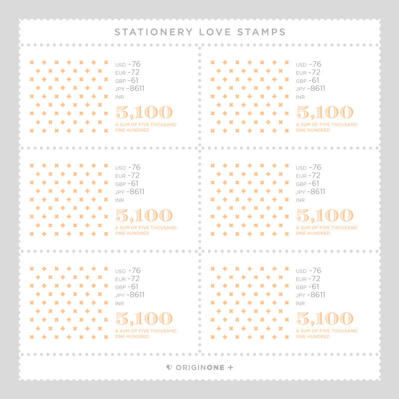 Origin One Love Stamps