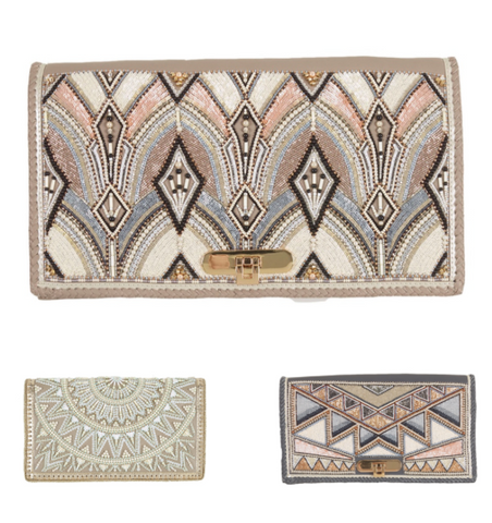 Embellished selection of statement occasional bags by buba at peek boutique
