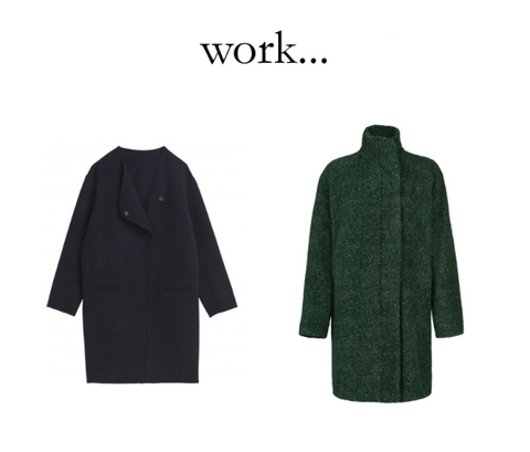 Navy Hartford jacket and green wool jacket by Samsoe available at Peek Boutique