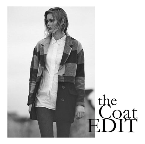 The coat edit including coats and jackets available at peek Boutique