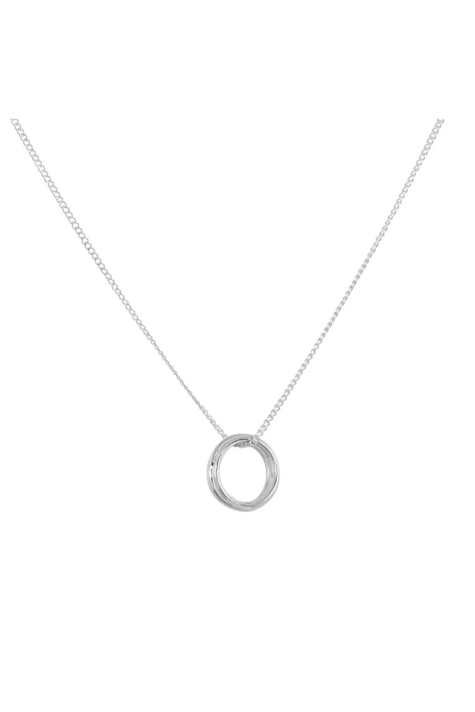 3 ring silver pendant necklace by Anna + Nina at Peek boutique