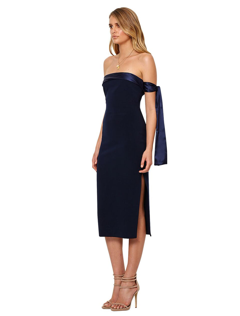 Bon Marche Tie Dress Ink Blue
