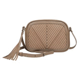 Another gorgeous cross body bag from Lili Radu in lovely suede and leather and a tassel for fun!