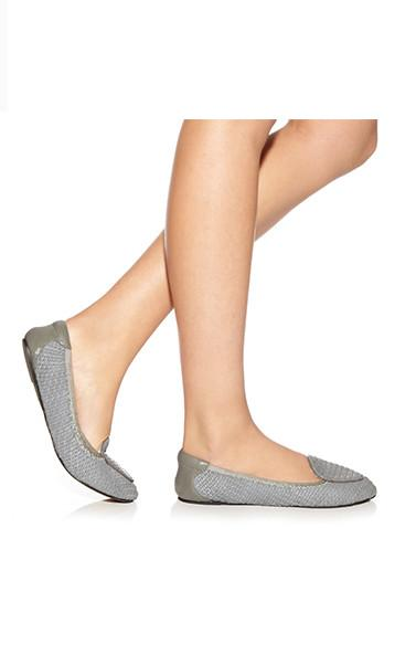 Women's grey foldable shoes by Coco rose at Peek Boutique
