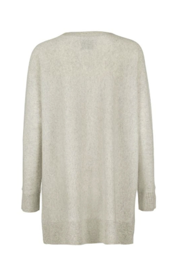 Women's oversized light beige sweater branded Samsoe & Samsoe at Peek Boutique