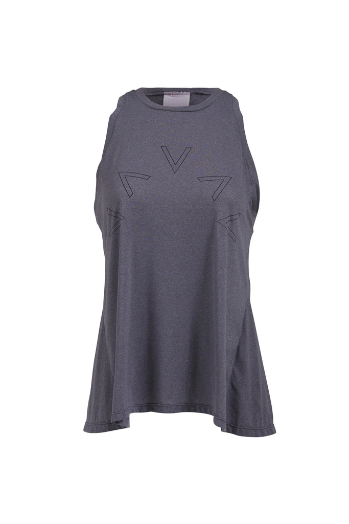 Varley Flora Vest in grey and black activewear