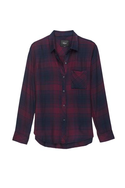 Ultra soft, plaid button down. Single layer with one chest pocket. 100% Rayon. Loose weave. Imported.