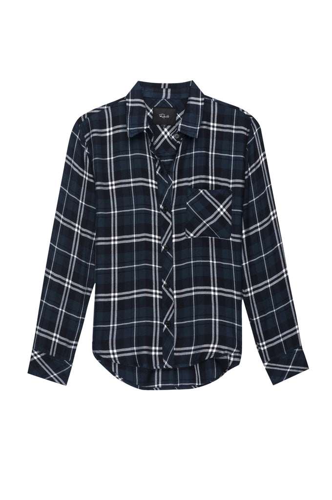 Ultra soft, plaid button down. Single layer with one chest pocket.