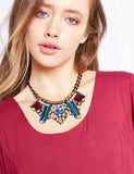 Stunning statement necklace from Nocturne in 18k gold plate.