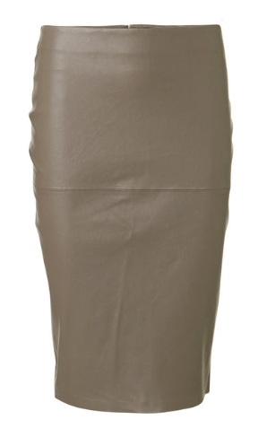 Floridia leather skirt in taupe