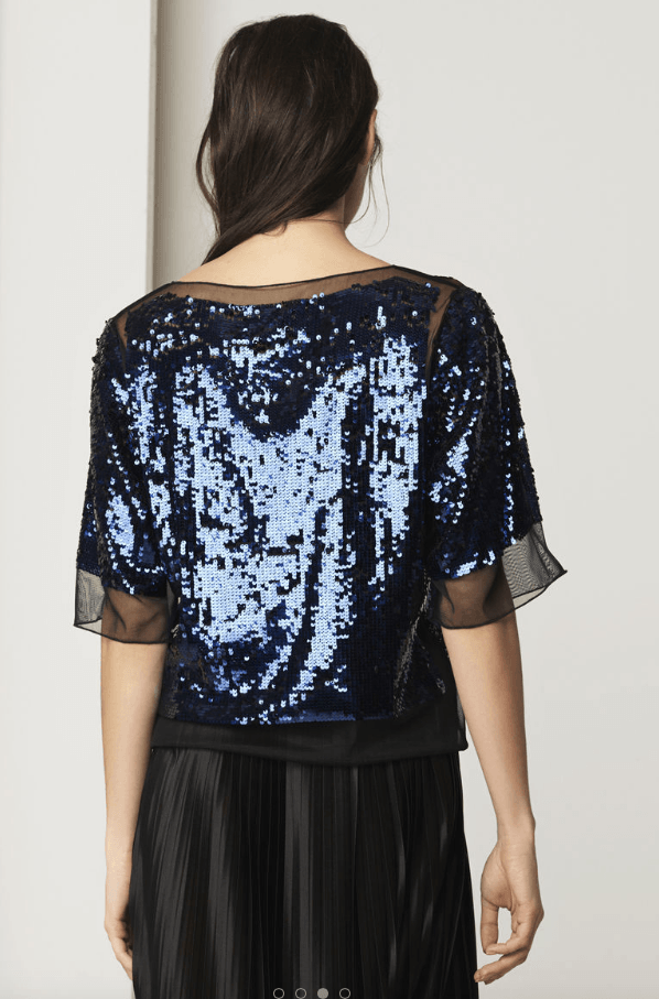 Cosildo blue sequin top