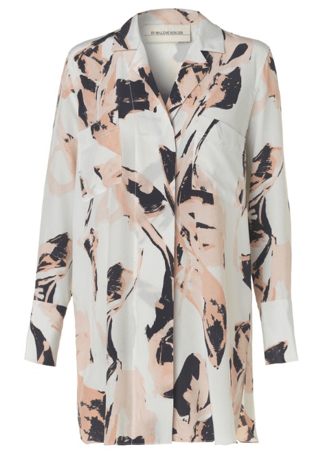 Loose printed silk shirt