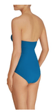 Heidi Klein San Diego blue ruched one piece