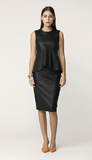 By Malene Birger's sleek pencil skirt is cut from supple leather backed with stretch fabric for a smooth and flexible fit. Style this sophisticated skirt with a tucked-in top and point-toe heels.