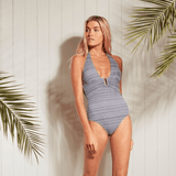 Perfectly suited to a timeless and windswept coastal destination, Heidi Klein's Côte Sauvage collection's bold marine stripes, structured shapes and classic cover-ups are designed with Atlantic surf days and long lunches in mind.