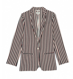 Smart striped jacket - perfect for summer city break.  Pair with the matching Hartford shorts.  100% cotton.