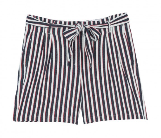 Fun striped shorts - perfect paired with a little white tee!  100% cotton.