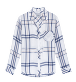 Casual dressing at it's best, the Hunter plaid shirt by Rails has become a firm wardrobe favourite of ours. We love this soft spring version in white, blue and blush pink to add to our growing collection. The ultra-soft plaid button down comes with long sleeves, one chest pocket and a curved hem.