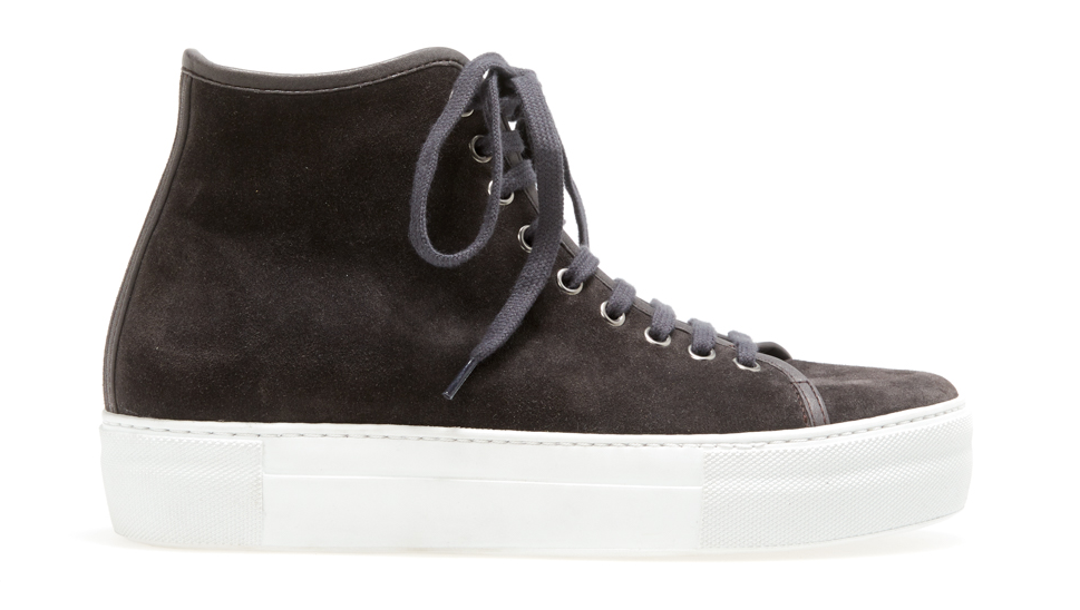 Charcoal High Top Trainer