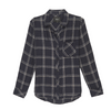 Ultra soft, plaid button-down. Single layer with one chest pocket.  100% Rayon.