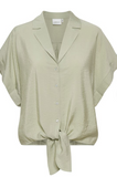 Pretty tie blouse from uber cool Danish brand Gestuz.  Pair with your white jeans for an easy fresh Spring look.