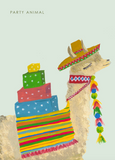 Party Llama Card