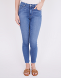 Our new Paige Hoxton Ankle in the perfect Summer wash.  Featuring Paige's signature high rise ultra skinny cut and a cropped ankle length with mixed metal hardware these are luxuriously soft and give an incredible fit with lots of stretch and bounce back shape.  The perfect jean for day or night.